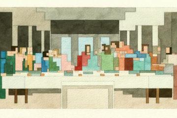 8-bit watercolor